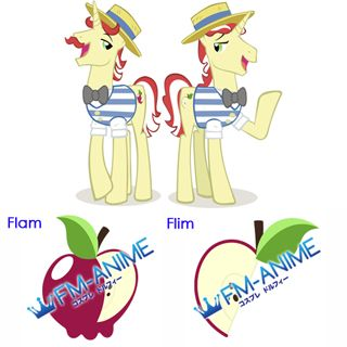 My Little Pony Flam Flim Cutie Mark Cosplay Tattoo Stickers
