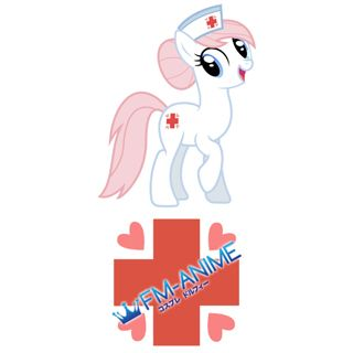 My Little Pony Nurse Redheart Cutie Mark Cosplay Tattoo Stickers