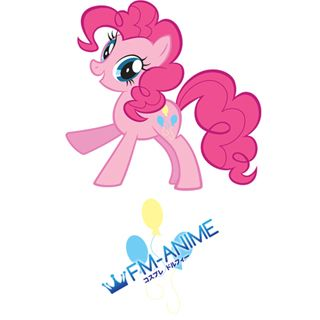 My Little Pony Pinkie Pie Cutie Mark Cosplay Tattoo Stickers