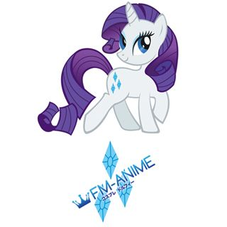 My Little Pony Rarity Cutie Mark Cosplay Tattoo Stickers