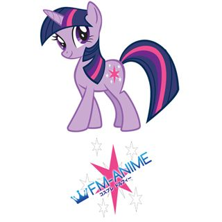 My Little Pony Twilight Sparkle Cutie Mark Cosplay Tattoo Stickers