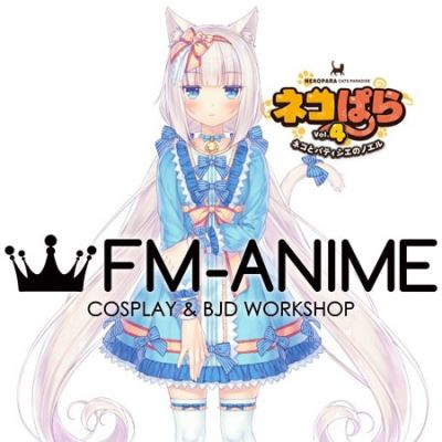 Nekopara 4 Vol. 4 ~Neko to Patissier no Noel~ Vanilla Blue Lolita Dress Cosplay Costume