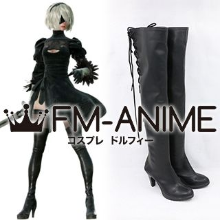Nier: Automata 2B YoRHa No.2 Type B Cosplay Shoes Boots
