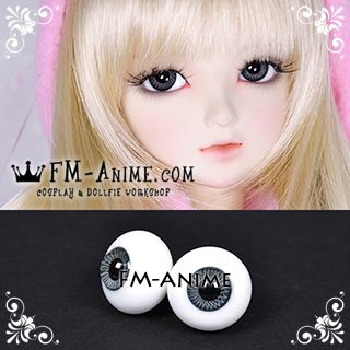 16mm Dark Slate Blue Spiral & Black Pupil BJD Dolls Glass Eyes Eyeballs Accessories