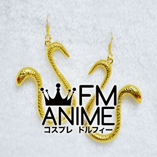 One Piece Boa Hancock Gold Metal Snacks Earrings Cosplay Accessories Props