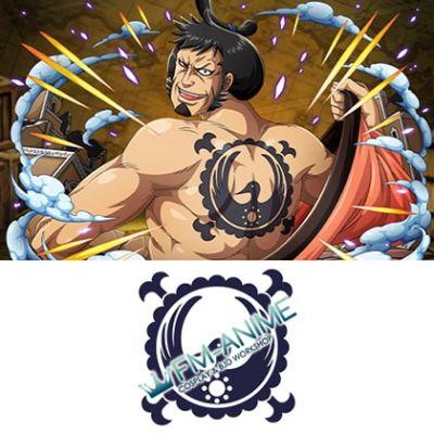One Piece Kin'emon Kozuki Family Cosplay Tattoo Stickers
