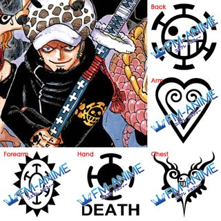 One Piece Trafalgar Law 2 Years Later Cosplay Tattoo Stickers