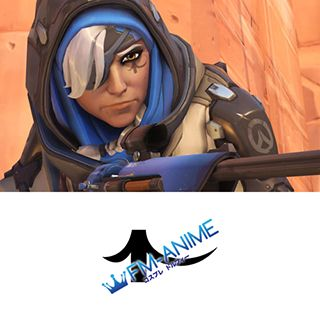 Overwatch Ana Cosplay Tattoo Stickers