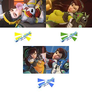 Overwatch D.Va Blueberry / Taegeukgi / Carbon Fiber / Lemon-Lime Cosplay Tattoo Stickers