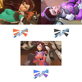 Overwatch D.Va Tangerine / Watermelon / White Rabbit Cosplay Tattoo Stickers