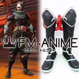 Overwatch Genji Oni Skin Cosplay Shoes Boots