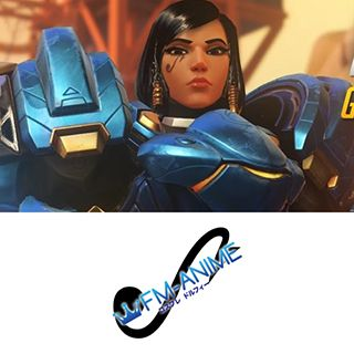 Overwatch Pharah Cosplay Tattoo Stickers