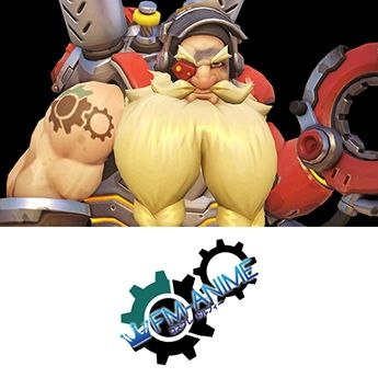 Overwatch Torbjorn Cosplay Tattoo Stickers