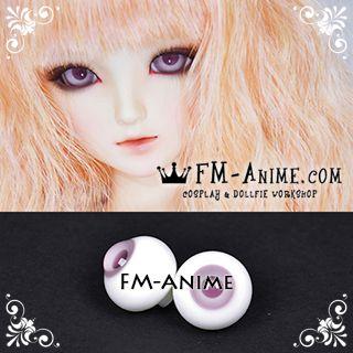 18mm Mauve Purple Pupil BJD Dolls Glass Eyes Eyeballs Accessories