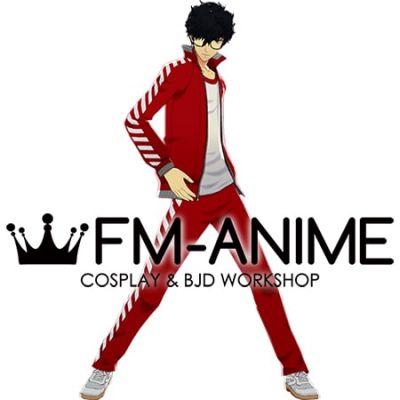 Shin Megami Tensei: Persona 5 Protagonist Akira Kurusu Ren Amamiya Shujin Academy Jersey Cosplay Costume