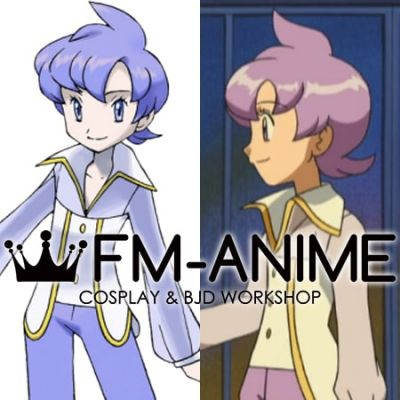 Pokemon Anabel Purple Cosplay Wig