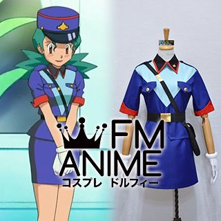 Pokemon Original Series Officer Jenny Classic Police Outfits Cosplay Costume