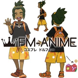 Pokemon Sun and Moon! Hau Cosplay Costume