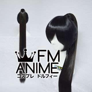 Long Straight Ponytail Style Clips on Black Cosplay Wig (120cm)