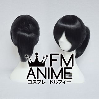 Short Straight Ponytail Style Black Cosplay Wig