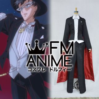Pretty Guardian Sailor Moon Crystal Tuxedo Mask Cosplay Costume with Hat