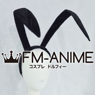 [Display] Inu x Boku SS Zange Natsume Rabbit Bunny Ears Headband Black Velvet Cosplay Accessories Prop