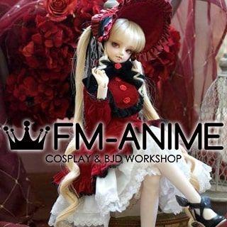 Rozen Maiden Shinku Light Gold BJD Dolls Wig