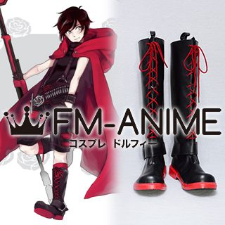 RWBY Red Ruby Rose (Male) Cosplay Shoes Boots