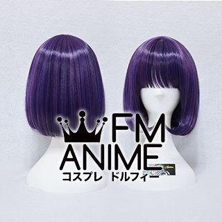 Short Straight Bob Mixed Magenta Purple Cosplay Wig