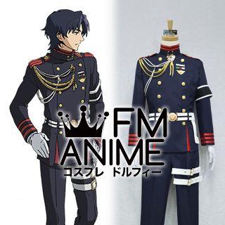 Seraph of the End Guren Ichinose Military Uniform Cosplay Costume (M)