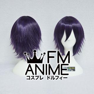 Short Layered Purple Mixed Black Cosplay Wig