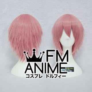 Short Layered Smoky Pink Cosplay Wig