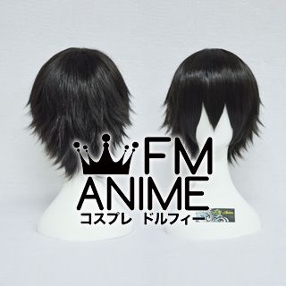 Short Spike Style Black Cosplay Wig #L1103