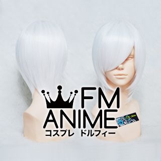 Short Straight White Cosplay Wig