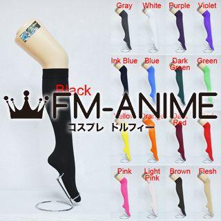 Ladies Women Girls Uniform Fashion Cosplay Velvet Knee High Socks