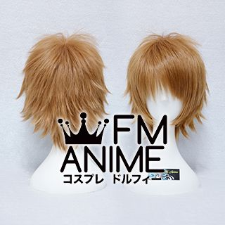Short Spike Style Light Brown Cosplay Wig