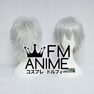 Short Spike Style Mixed Gray Cosplay Wig