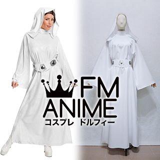 Star Wars Princess Leia White Dress Cosplay Costume