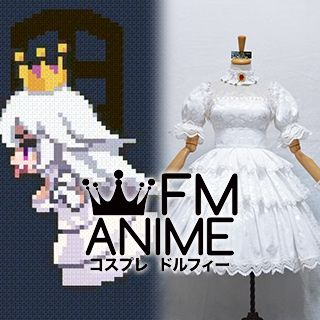 Super Mario Boosette King Teresa Hime Ghost White Lolita Cosplay Costume