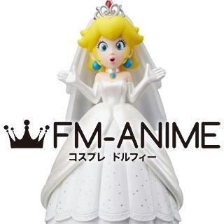 Super Mario Odyssey Princess Peach Wedding Dress Cosplay Costume