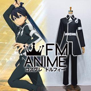Sword Art Online Alicization Kirito Kazuto Kirigaya Black Cosplay Costume (Female L)