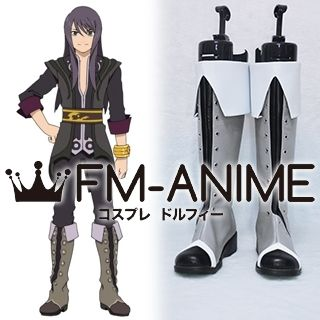Tales of Vesperia Yuri Lowell Cosplay Shoes Boots (Gray)