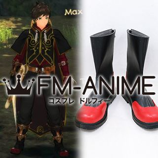 Tales of Zestiria (series) Sorey Black & Red Cosplay Shoes Boots (Foot length 26cm)