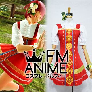 Tekken 6 Alisa Bosconovitch Red Dress Cosplay Costume
