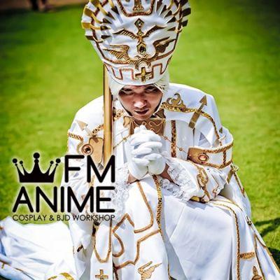 [Display] Trinity Blood Alessandro XVIII White Cosplay Costume