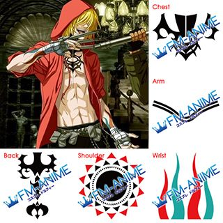 Togainu no Chi True Blood Gunji Cosplay Tattoo Stickers