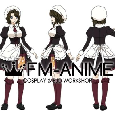 Umineko No Naku Koro Ni Shannon Maid Dress Cosplay Costume