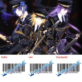 Vocaloid Gackpoid Kagamine Len Kaito Arrest Rose Cosplay Tattoo Stickers