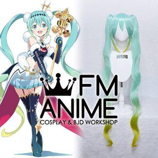 Vocaloid Hatsune Miku GT Project figma Racing Miku 2018 Ver. Cosplay Wig