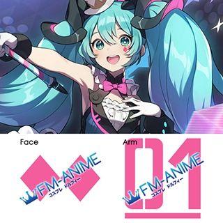 Vocaloid Hatsune Miku Magical Mirai 2019 Ver. Cosplay Tattoo Stickers
